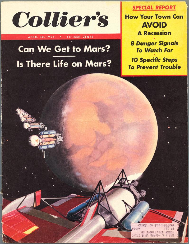 Forsiden av Collier's med artikkelen om Mars